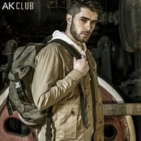 animal bushes - AK CLUB Men Jacket Windbreaker Cuba Libre Bush Fighting Style Vintage Military Jacket Cotton Turn down Collar Men Jacket