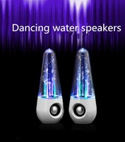 LED Bailar altavoces de agua LED Light reproductores de música de la música Portable Audio Reproductores USB para teléfonos celulares Portátiles PC MP3