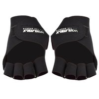 Wholesale 2016 Professional Win Max WMF09136 Exercise Fitness bodybuilding sports weight lifting antiskid Non slip Half finger Gloves men