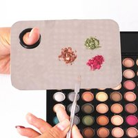 Wholesale Stainless Steel Makeup Cosmetic Nail Eye Shadow Mixing Palette Toner Spatula Set