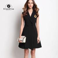 Wholesale EE women vest high quality fashion designer beading black long vest coat slim brand vest coat