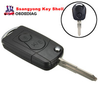 Wholesale For Ssangyong BUTTON Flip Remote Key Case SHELL For Actyon SUV Kyron