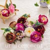 Wholesale 7 Colors cm Artificial Peony flower head DIY road lead flowers wedding flower Bouquet hotel background wall decor