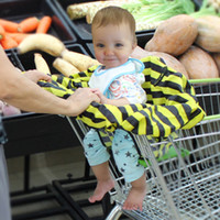 Striped baby supermarket - New Hot Sale Cart Baby Eat Seat Covers High Quality Dust proof Seat Cusion Cover For Supermarket Shopping Cart Seat Covers