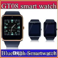 Montre de fitness de santé à puce Prix-20X Bluetooth Smart Watch GT08 A1 avec Slot de carte SIM Santé Watchs pour iPhone 6S Samsung S7 Android IOS Smartphone Bracelet Smartwatch C-BS