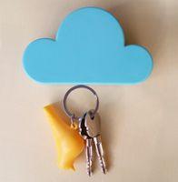 Wholesale High Quality home key holder Creative Home Shelveskey Cloud Shape Magnetic Magnets Key Holder key rack wall shelf