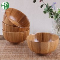 Wholesale Size Handmade Wooden Bowls Chinese Style Rice Bowl Eco Friendly Baby Children s Tableware Fashion Kitchen Accessories