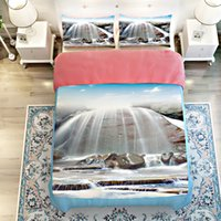 alpine supply - Waterfall alpine building d Scenic Bedclothes Sets twin queen king size Bedding set Supplies duvet cover pillowcase sheets