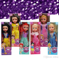 5-7 Years belle doll - 10 Inch Boxed Princess Animators Sharon Doll Princess Sofia Snow White Ariel Rapunzel Merida Cinderella Aurora Belle Princess Dolls For Girl