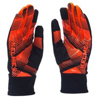 Wholesale Kelme K15Z9110 Men Football Training Cold proof Casual Sports Autumn And Winter Anti skid Keep Warm Gloves Fluorescent Orange