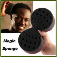 Wholesale Hair Twist Sponges Twists Hair Sponge Twists Magic Barber Sponge Brush Hair Care Styling Tools Free DHL