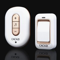 Wholesale High quality colors Tunes Wireless Cordless Doorbell Remote Door Bell Chime No need battery Waterproof