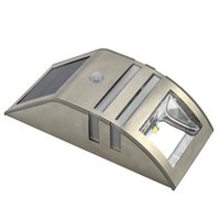 Wholesale Solar Stainless PIR Motion Sensor LED Security Garden Wall Outdoor Light Lamp