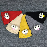 big red birds - Solid Highly elastic Autumn Winter Cartoon Birds Child knitted hat kids girls big eyes Pointy hats Age for years old WA1697