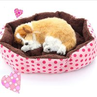 Wholesale Promotion Pet Products Cotton Pet Dog Bed for Cats Dogs Small Animals Bed House Pet Beds Cushion High Quality Cheap D0091