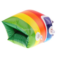armlets - Models Rainbow Inflatable Swimming Rollup Arm Bands Rings Floats Tube Armlets