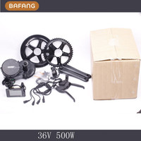 Wholesale 36V W Bafang BBS02 Crank mid Motor kits C965 C961 motor crank Motor eletric bicycles ebike kit Fedex Shipping