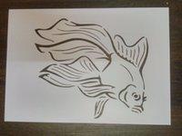 beautiful flexible - Flexible stencils Masking template For Scrapbooking cardmaking painting DIY cards Beautiful goldfish