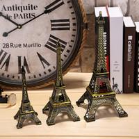 Cadeaux Créatifs 18cm 25cm 33cm Métal Art Artisanat Paris Tour Eiffel Figurine Modèle Zinc Alliage Statue Voyage Souvenirs Home Decor