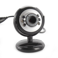 Wholesale PTZ Web Camera of USB M LED PC Camera Great HD Webcams with Inserted MIC Computer PC Laptop Webcam