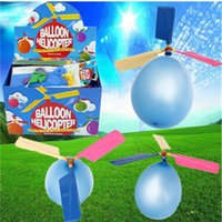 Wholesale Hot Sale Colorful Traditional Classic Balloon Helicopter Portable Outdoor Playing Flying Toy Child Party Supplies