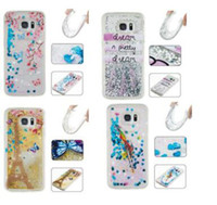 bear sparkle - Falling stars quicksand Sparkle liquid print tower bear untra thin solf TPU case for Samsung Galaxy S5 S6 edge S7 edge HUAWEI P8LITE P9LITE