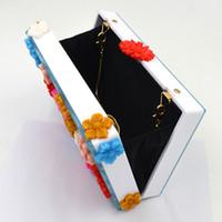 Dongguan ville sacs à main jiashun Beauitiful nouveau style de mode fleurs dame acrylique boîte unique sacs à bandoulière
