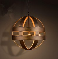 atom lighting - Vintage Atom Cyclopean Wine Barrel Pendant Lights Industrial Iron Round Nordic art pendant Lamps bar restaurant Light Fixtures LLFA