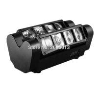 Vente en gros- FreeFast Expédition Portable NOUVEAU Moving Head Light / Mini LED Spider 8x10W RVB Beam Light / KTV dj éclairage
