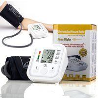 al por mayor metros del punto de ebullición-Digital Brazo superior Presión arterial Monitores de pulso Cuidado de la salud Tonometer Portable bp Monitor de presión arterial metros esfigmomanómetro