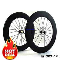 Wholesale 2017 new C mm wide Road Bike full Carbon mm Tubular Wheelset V Brake system chinese carbon wheels