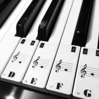 Grossiste-Piano Clavier Electronique Clavier Stickers Decal Label Note Apprendre Biginners Kid