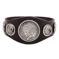 Celtic american indian navajo - Leather Cuff Bracelets Navajo Leather Bracelet Mens Punk Charm Bracelet Indian Native American Jewelry Leather Men Jewelry