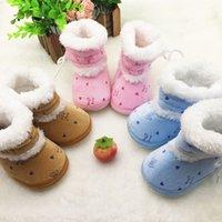 best boot sole - Newborn Baby Plush Winter Warm Boots Toddler Non Slip Soft Sole Crib Shoes M Best