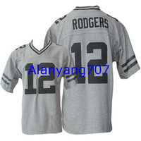 Wholesale Men Football Packers RODGERS Game Embroidered jersey