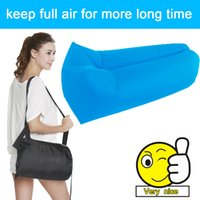 Wholesale high quality air sofa bed square and banana shaped inflatable sleeping bag outdoor party beach lounger