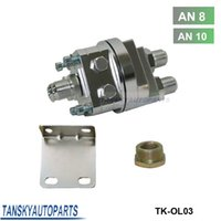 Wholesale Tansky High Quality Universal Oil Filter Cooler Sandwich Plate Adapter Silver TK OL03 AN10 AN8 Have In Stock