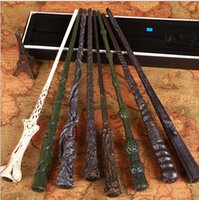 Wholesale harry potter wand Cosplay magic led Ghost head Ron Sirius Lord Voldemort hermione Dumbledore harry potter light wand with box KKA1217