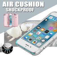 apple cushions - Air Cushion Shockproof Slim Thin Soft TPU Protective Cover Case Skin For Apple iPhone S Plus inch MOQ