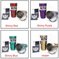Wholesale YETI oz Tumbler Clear Lid oz oz oz Cups for Yeti Coolers Cup Sports Mugs Large Stainless Mug