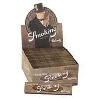 Wholesale Smoking Brown cigeratte rolling papers king size slim mm mm box