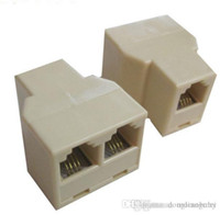 Wholesale network cable pc RJ45 P8C Y splitter Female Network Coupler Adapter to Female Female Spliter Couple D