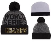 Wholesale New Arrived world series champs cubs beanies Winter High Quality Beanie For Men Women Skull Caps Skullies Pom Knit Hats Drop Shipping