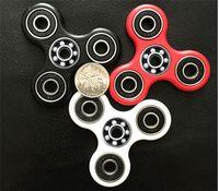 Wholesale 2017 MOQ Hand Spinner Tri Fidget Ceramic Ball Desk Focus Toy EDC For Kids Adults Free Shopping