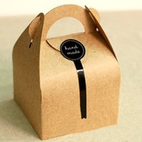 apple bake - Kraft Paper Baking Packing Boxes for Merry Christmas Apple Cookies Candys Gift Packing