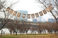 banner designs - JUST MARRIED wedding banner party decoration rectangle design shape Wedding Banner For Party set