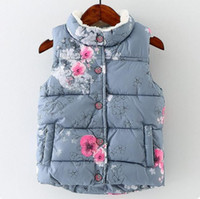 american apparel winter coat - Autumn Girls Clothing Outdoor Floral Baby Girls Baby Vest Apparel Foreign Style European And American Clothing Wrap And Coats Princess Of T