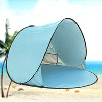 Wholesale Shelters Tents Free Structures Shelter Fully Automatic Tent Camping Beach Shade Anti UV Outdoor Sports Equipment Popular Colorful hy