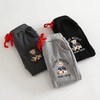 Wholesale Autumn and winter new children s clothing cotton not down cashmere trousers boys plus velvet thickening sports pants