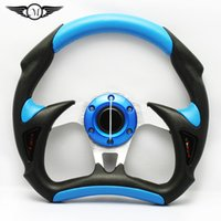 320 aluminium cover buttons - Universal inch mm Racing Sport PU PVC Cover Auto Steering Wheel with Horn Button and Aluminium Bracket